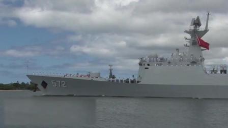 一枚炮彈突然在中國軍艦附近爆炸, 海軍的霸氣表現使國人自豪!