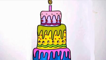 画生日蛋糕