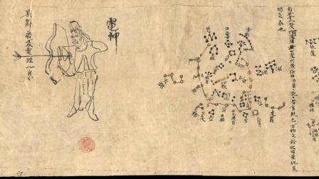 敦煌星图.甲本.约绘制于唐中宗时期.古代字画.大英图书馆藏