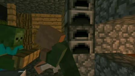 《我的世界》村民找到儿子, 教堂里面全是僵尸, 村民首次战胜僵尸