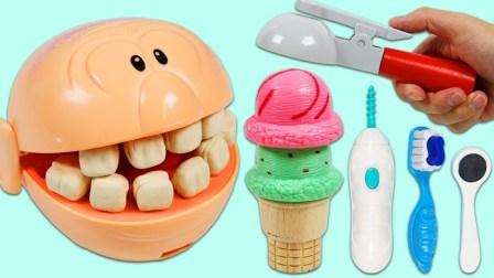 豆先生憨豆先生光头吃冰淇淋看牙齿