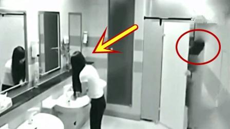 女子正在洗手, 忽然感觉不对劲, 视频拍下这样画面