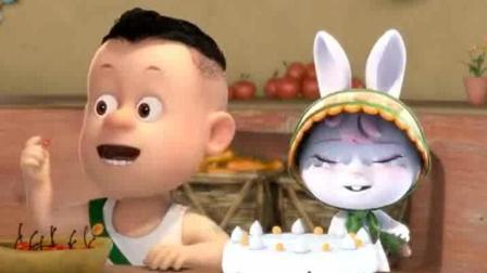 熊熊乐园: 熊二发现光头强制作的蛋糕却不能吃, 好可伶奥