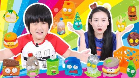 酷!16款可爱的动漫手办模型 冰冻垃圾食物怪兽玩具拆包