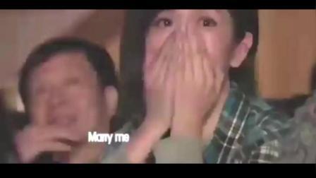 张杰演唱会现场播放张杰求婚谢娜视频,真是太感动了!MP