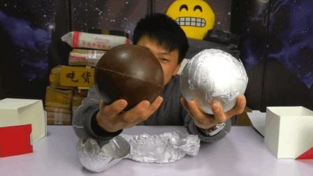 """试吃超大号的""""巧克力球"""", 一锤子敲下去都是吃的"""