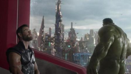 雷神索尔看到绿巨人洗澡的表情, 确定是漫威派出场来搞笑的!