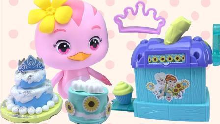 萌鸡小队3D打印机做生日蛋糕玩具 371