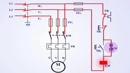 数控机床电动机连续运转控制电路