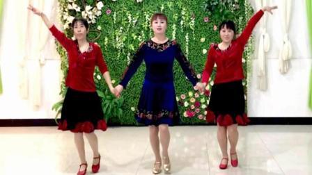 靓晶晶原创双人舞一拖二《花桥流水》视频制作: 小太阳