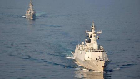 这国六艘军舰闯南海, 搅局胆量不小: 中国不会轻饶 就三分钟的事