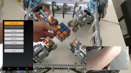 编程牛人搭建的智能算法机器人, 秒开魔方
