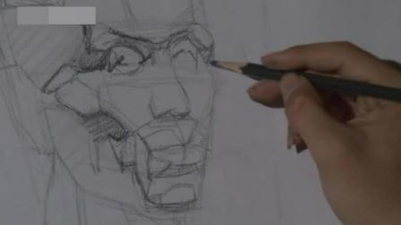 人像素描入门 零起点学肖像素描 动态速写人物临摹图片