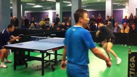 国乒马龙高强度日常训练, 板板拉球板板过