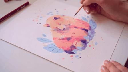 画不出可爱敦厚的大灰熊? 你只是没用对色调!