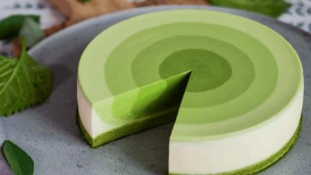 自制抹茶慕斯蛋糕, 清新口味满足你对甜品的一切要求!