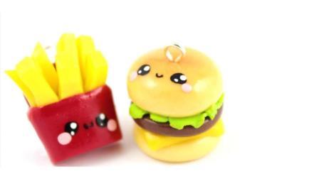 【学艺家】粘土成功变身萌萌哒汉堡包和薯条~