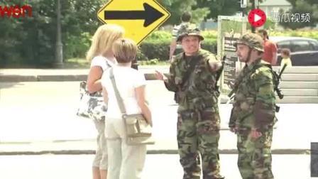 街头恶作剧, 美国海军陆战队恶搞路人