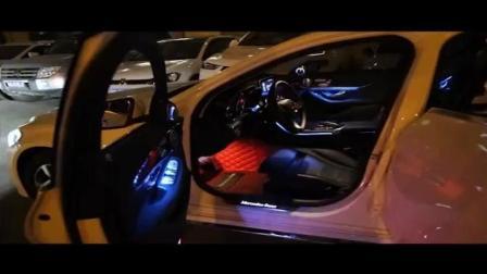 奔驰新C级原厂三色氛围灯C200L C180L GLC260 CLS车内气氛灯改装