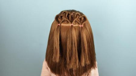 适合小学生短发发型  儿童发型绑扎方法