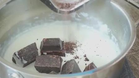 蛋糕裱花教学视频梦幻三色松露巧克力, 好想吃巧克力慕斯蛋糕制作方法
