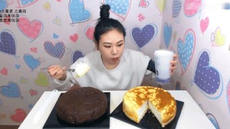 大胃王弗朗西斯卡吃蛋糕和牛奶, 这甜点也吃的忒爽了