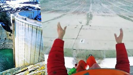 狂人大坝顶端跳伞遭意外 落地失误不慎撞崖
