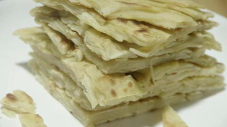 3分钟学会原味手抓饼的做法, 农村人的早餐, 嚼劲十足, 越吃越香!