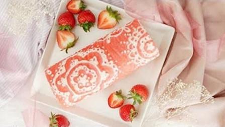 【喵博搬运】【食用系列】少女心满满的蕾丝蛋糕卷~╰(*°▽°*)╯