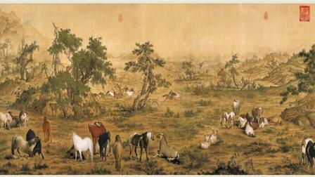 古代字画-中国十大传世名画-百骏图-阿域作品