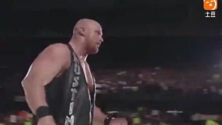 """WWE""""最帅男人""""岩石强森, 遭遇生涯最艰苦一战, 与冷石奥斯丁厮杀"""