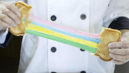 把鲜牛奶变成拉出超长丝的彩虹芝士!