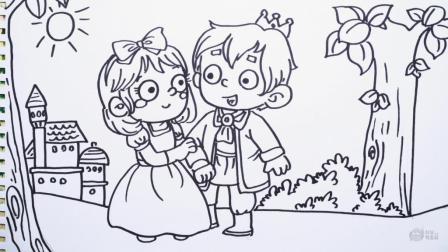 神笔简笔画 中外童话故事 白雪公主, 儿童成人绘画马克笔教程大全