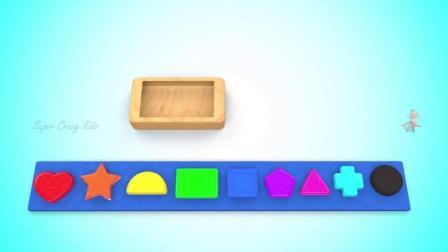 早教益智色彩启蒙: 小朋友来认识不同颜色和形状的饼干