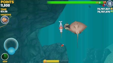 饥饿鲨世界: 满血的独角鲸究竟能抗的住多少颗这样的大水雷?