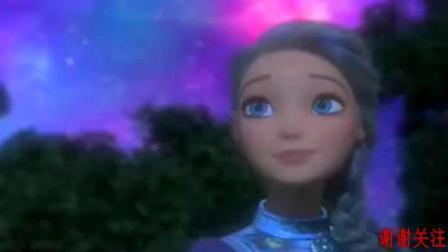 《芭比之星际大冒险》芭比的魔法让蝴蝶都围着她飞翔, 好美啊