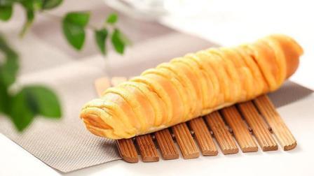 2分钟教会你做毛毛虫面包, 香甜酥脆, 太好吃了, 大人孩子都爱吃
