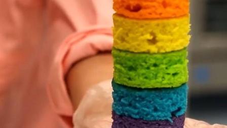 价格不菲的法式甜品里藏着的彩虹蛋糕是怎样练成的