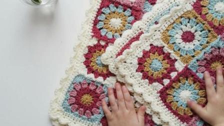 她把碎毛线整理一下就编成了漂亮毯子, 这样的女孩谁娶谁有福啊