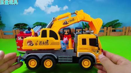 儿童趣味玩具: 挖掘机汽车玩具