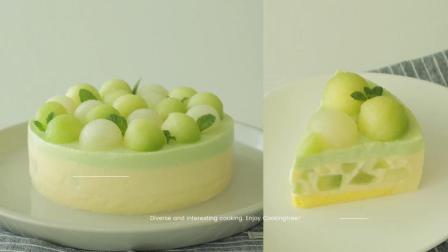 超文艺超清凉的哈密瓜慕斯蛋糕制作过程