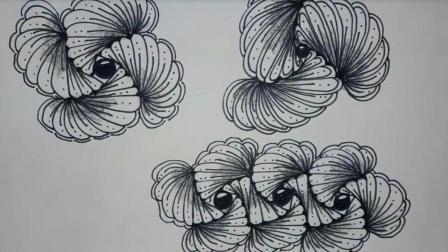 手绘禅绕画图样 一步步教你入门静心禅绕画