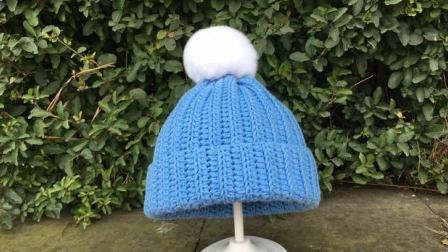 糖糖手作 (第74集) 钩针编织  竖条纹毛线帽子
