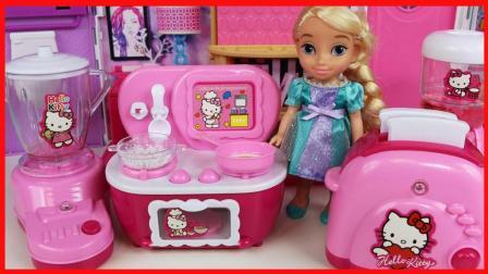 凯蒂猫厨房玩具 Hello Kitty 儿童过家家!