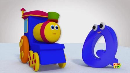 益智英文动画: 与鲍勃一起学习街道之字母Q