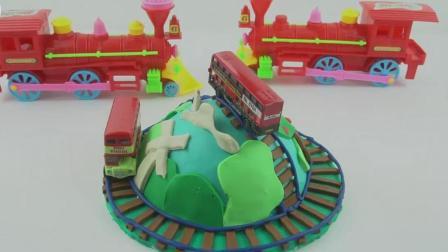 培乐多橡皮泥手工托马斯火车蛋糕, 婴幼儿宝宝学英语, 儿童玩具视频 E156