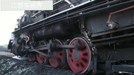 蒸汽火车大马力也能烧胎起步, 火花四溅场面震撼