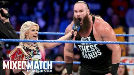 【WWE混双挑战赛】赛后采访: 人间怪兽表示小魔女很可爱 貌似要组CP啊