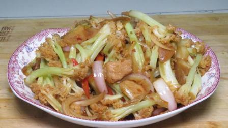 干锅花菜这样做出来, 口感脆爽, 上桌就被抢光, 年夜饭不用愁了