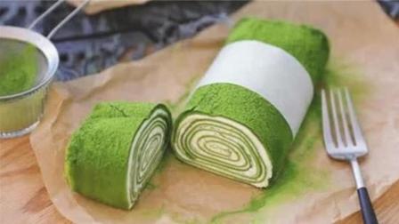 一分钟学会网红抹茶毛巾卷, 这是一个可以吃的毛巾卷